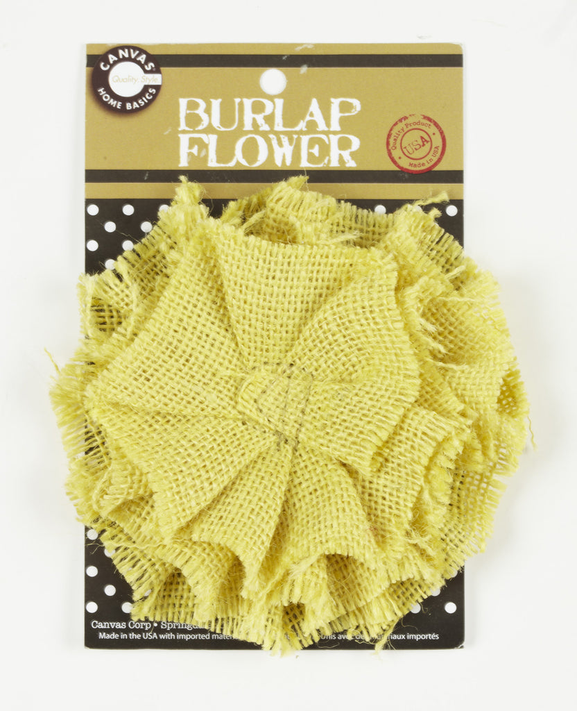 Burlap Flower - Wheat
