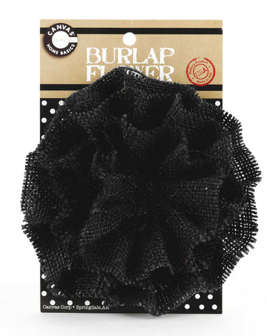 Burlap Flower - Black