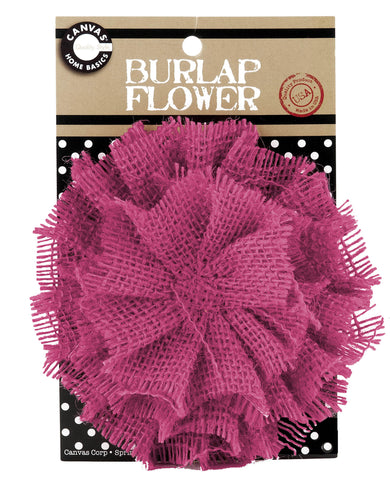 Burlap Flower - Hot Pink