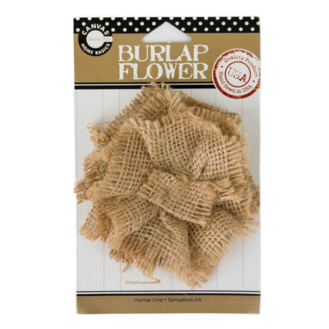 Burlap Flower Natural Burlap Canvas Corp Brands