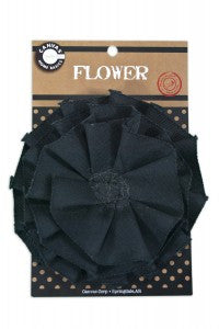 Canvas Flower- Black