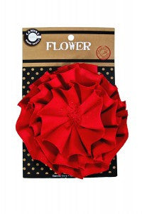 Canvas Flower - Red