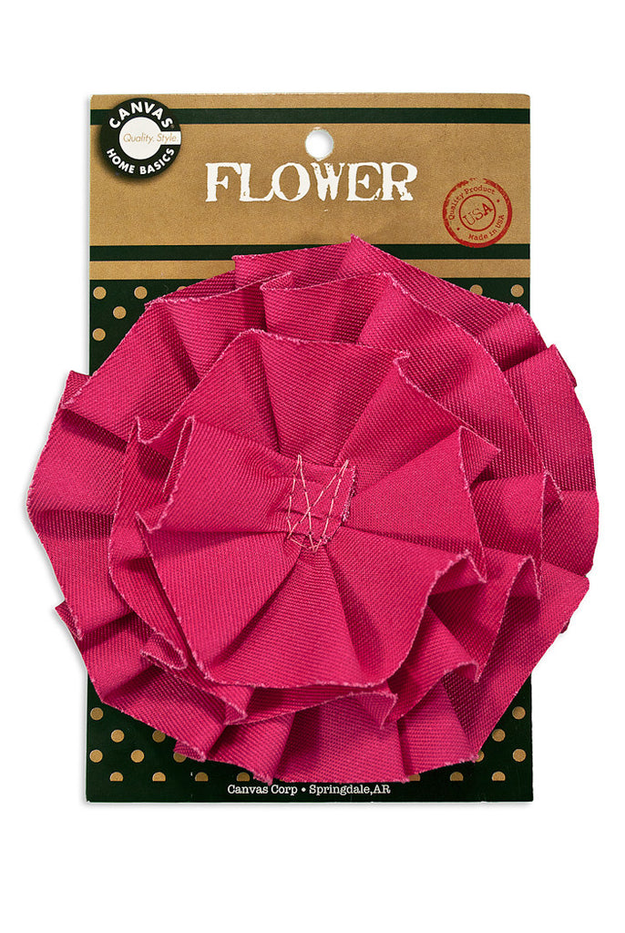 Canvas Flower - Hot Pink