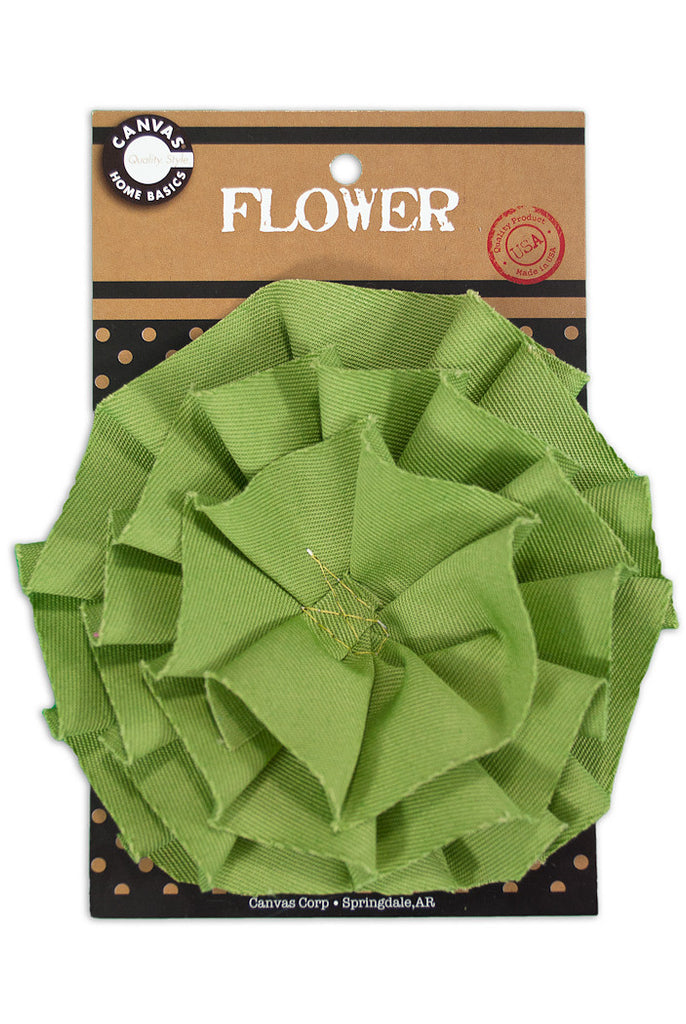Canvas Flower - Lime Green