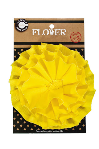 Canvas Flower - Yellow