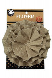 Canvas Flower - Tan