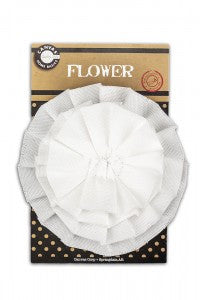 Canvas Flower - White