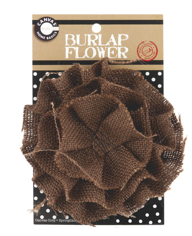 Burlap Flower - Chocolate