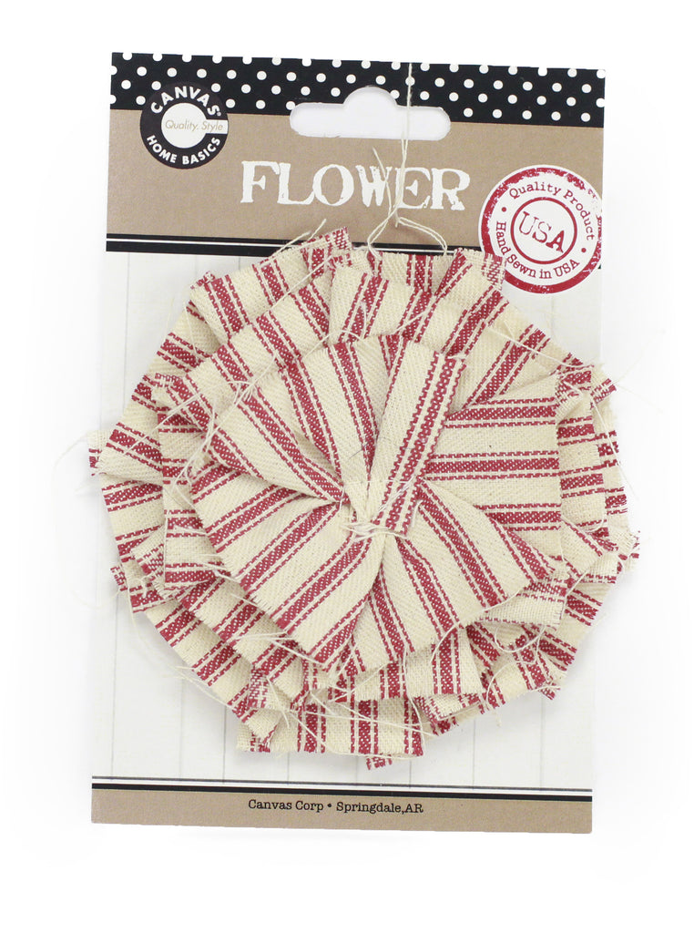 Canvas Flowers - Ticking