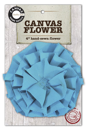 Canvas Flower - Teal
