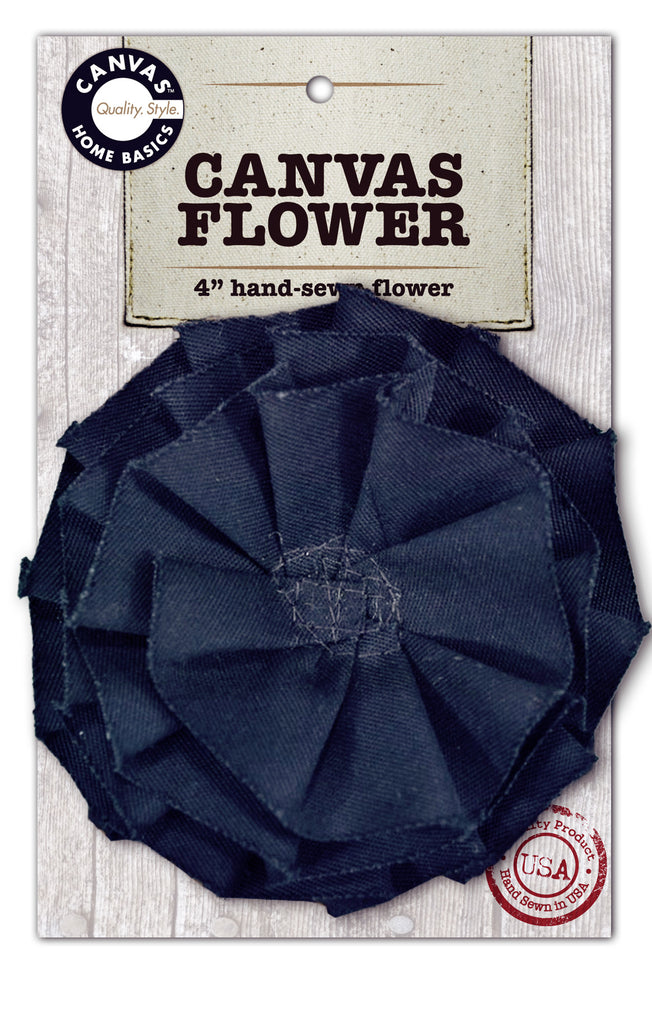 Canvas Flower - Dark Blue
