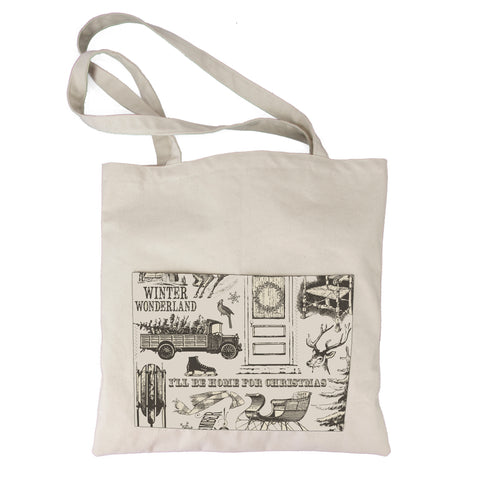 Canvas Tote Bag - Farmhouse Christmas