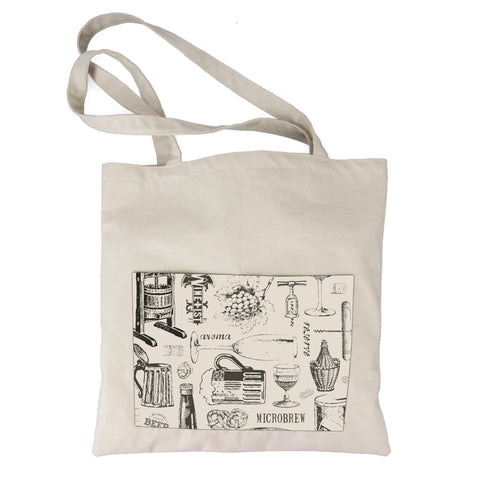 Canvas Tote Bag - Vino and Ale