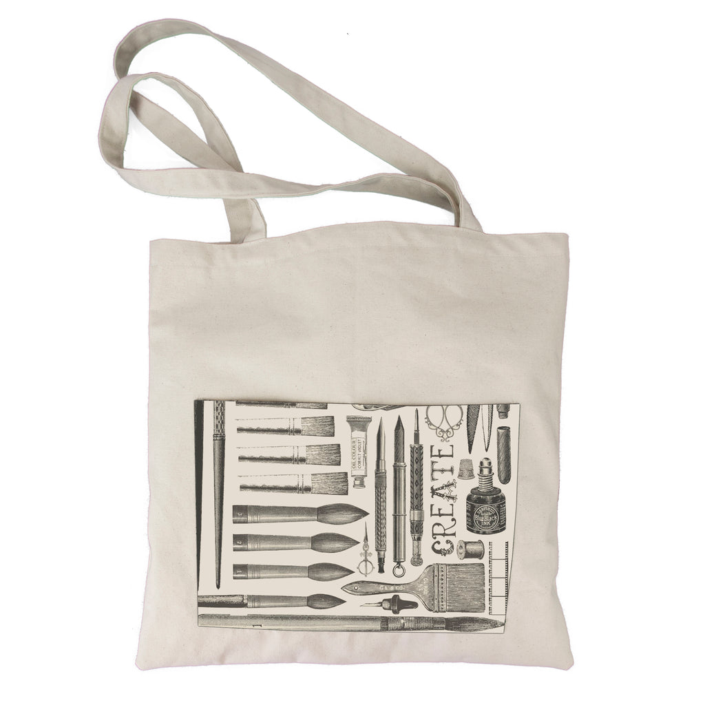 "Canvas Tote Bag - Artsy ""Be Creative Every Day Collection"""