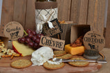 Vino and Ale: Cheese Board on Kraft Paper