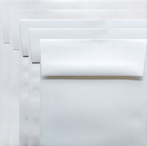 Square Cards/Envelopes (8) White 6x6