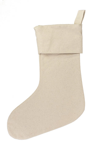 Christmas Stocking Canvas with Cuff
