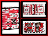 Christmas: Santa Sampler on White