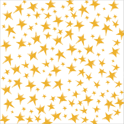 Gold and White Star Paper