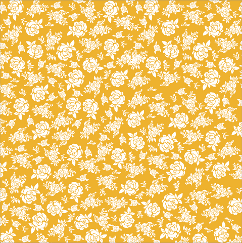 Gold and White Mini Roses Rev Paper