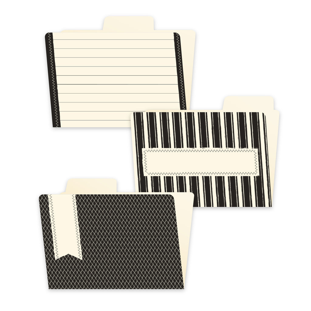 4x6 File Folders - Black and Ivory