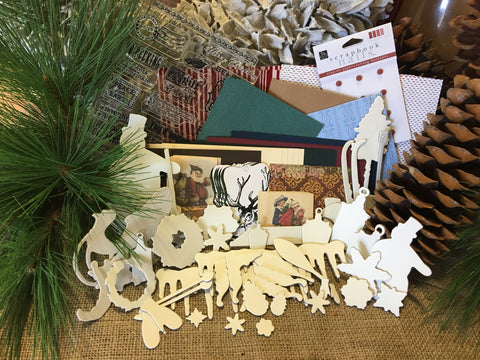 Christmas Card Scrap Kit