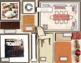 Room Planning & Decorating Kit - Dining/Entertaining