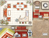 Room Planning & Decorating Kit - Patio/Outdoor Living