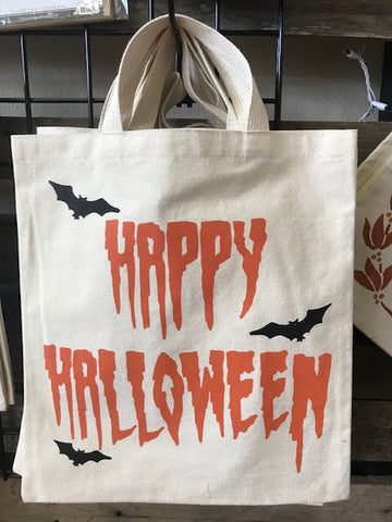 Halloween Treat Bags - Happy Halloween w/ Bats