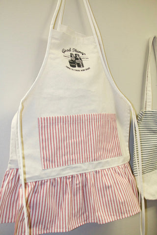 Good Things Come To Those Who Bake Holiday Apron with Ticking