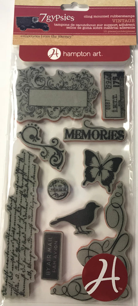 7gypsies Cling Stamp - Memories Vintage Stamp Collection