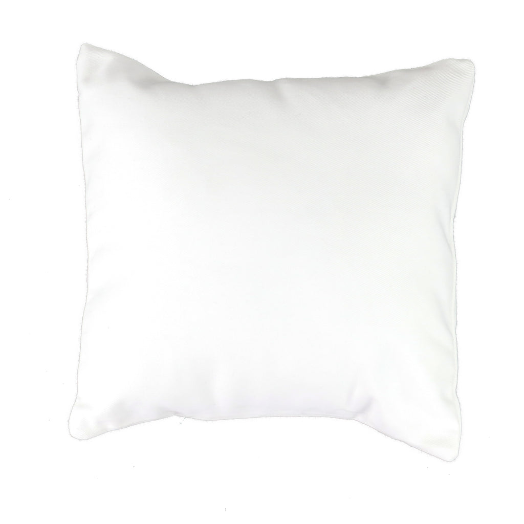 White Canvas Pillow Cover - Square (available in 4 sizes)