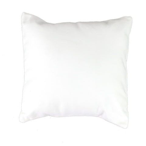 White Canvas Pillow Cover with Zipper - Square (available in 2 sizes)