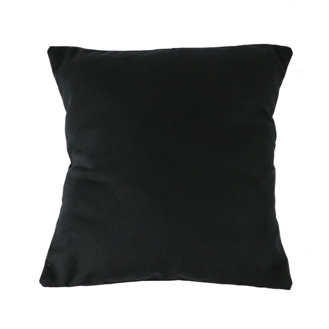 Black Canvas Pillow Cover with Zipper - Square (available in 2 sizes)