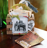 7gypsies Mini Vintage ATC Crate: White