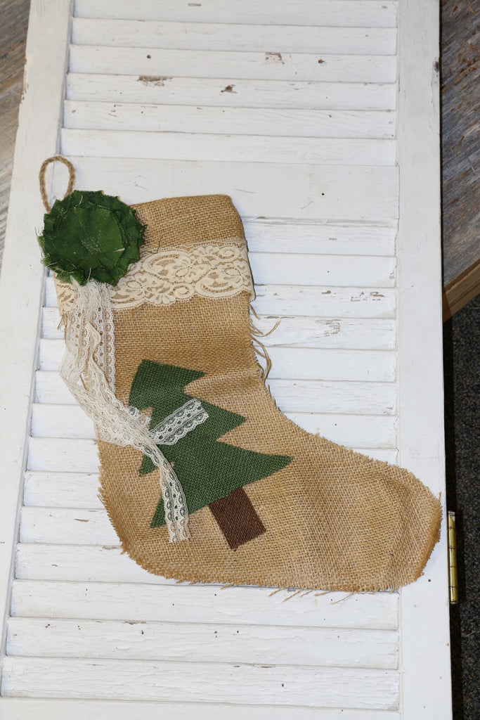 Kit:  Burlap Stocking Kit