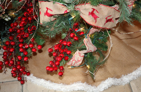 Christmas Tree Skirt - Burlap