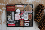Farmhouse Christmas: Better Not Pout Tags on Kraft Paper