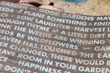 The Watering Can: Garden Words on Ivory Rev Paper