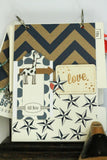 Navy and Ivory 5 Point Star Paper