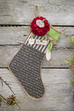 "Stocking Burlap - Small 8""x10.5"""