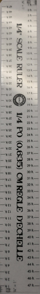 Roomspaging - Scale Ruler - 1/4""