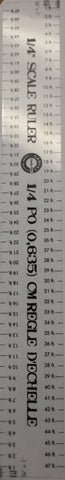 Scale Ruler - Plastic - 1/4""