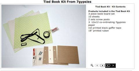 7gypsies Tied Book Kit