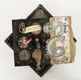 7gypsies 8x8 Shadowbox Insert: Rounds: Black