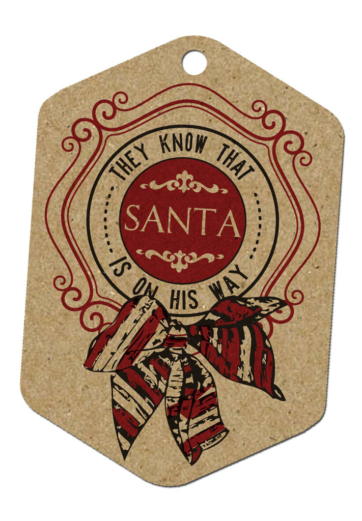 Holiday Tags - Santa on His Way