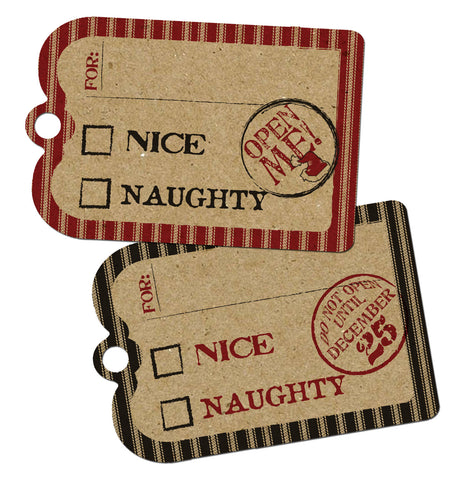 Holiday Tags - Naughty or Nice Stamps