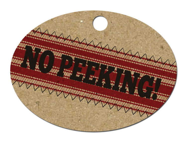 Holiday Tags - No Peeking