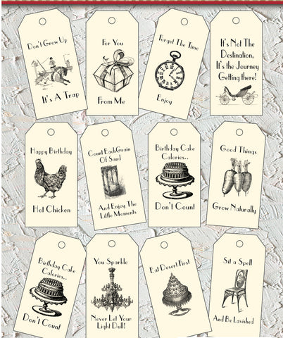 Main Street Collection Tags - Wishes
