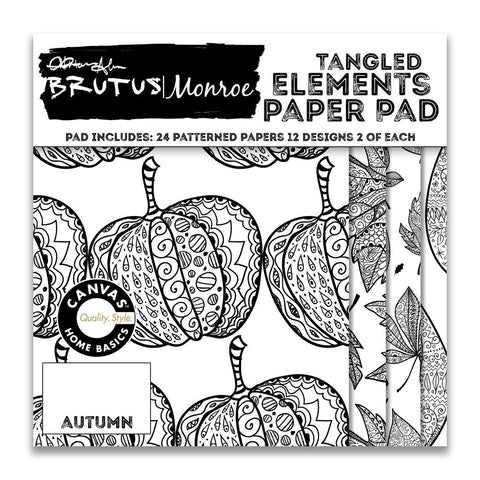 Brutus|Monroe 6x6 Tangled Elements Paper Pad - Autumn
